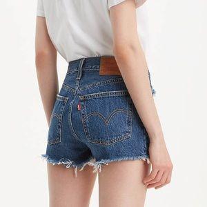 Levi's 501 Cutoff Denim Jean Shorts